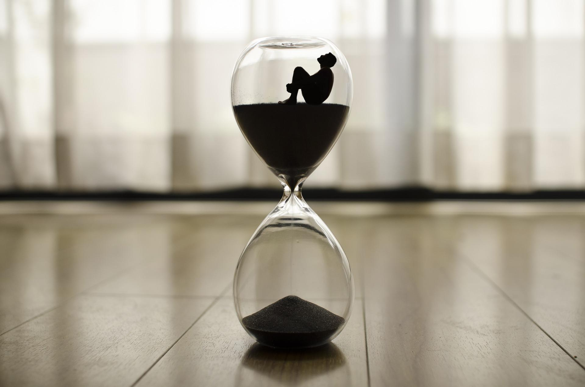 Zeit läuft Sanduhr